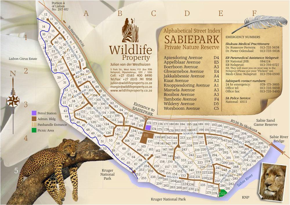 Sabiepark Residential Map
