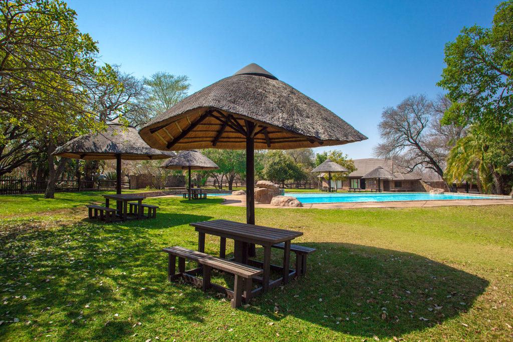 Sabiepark property owners leisure pool area.